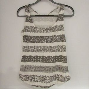 Delia's grey and white patterned tank top